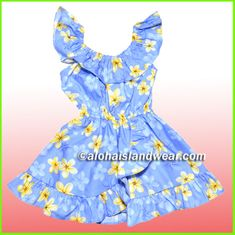 Girl Aloha Dress - 417Blue