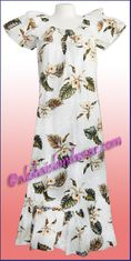 Hawaiian Muumuu Full Length  - 413White