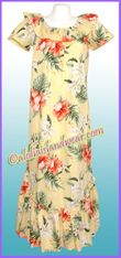 Hawaiian Muumuu Full Length  - 466Yellow