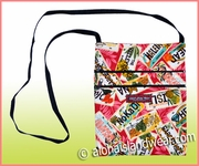 Hawaiian Print Cross Body Side Bag - 114Red