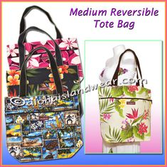 Medium Reversible Hawaiian Tote Bag