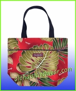 Medium Reversible Hawaiian Print Tote Bag - 503Red