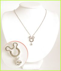 Mickey Mouse Solid Silver Necklace