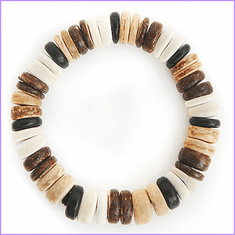 Natural Wood Button Bracelet