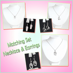 Necklace & Earrings Matching Set
