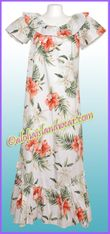 Hawaiian Muumuu Full Length  - 466White