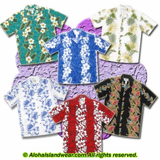 Panel Design Aloha Shirt