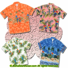 Parrot Design Hawaiian Shirt