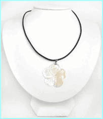 Plumeria Mother of Pearl Nacklace