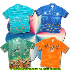Sea Life Design Hawaiian Shirt