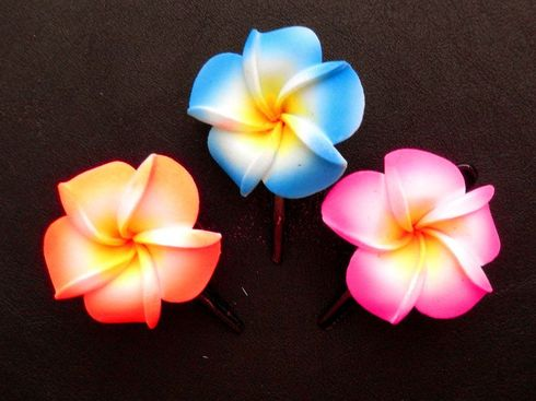Small Foam flower Hair Pin