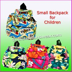 Small Hawaiian print Backpack for Children