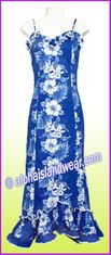 Hawaiian Spaghetti Dress - 4340Navy
