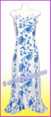 Hawaiian Spaghetti Dress - 4340White