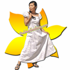 White Classic Aloha Dress - 50% off (some yellow spots on the dresses)