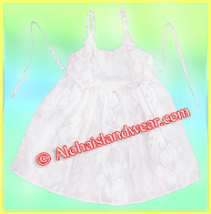 White Kid Tie Dress