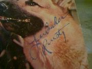 Aaker, Lee  Rin Tin Tin 1961 Color Dell Comic Book Signed Autograph Cover Photo Vintage