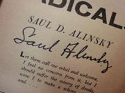 Alinsky, Saul Reveille For Radicals 1969 Book Signed Autograph