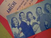 Ameche, Don  Janet Blair Jack Oakie Something To Shout About 1943 Sheet Music Signed Autograph YouD Be So Nice To Come Home To Photos