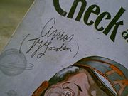 Amos N Andy Freeman Gosden Charles Correll Check And Double Check 1930 Sheet Music  Signed Autograph Three Little Words