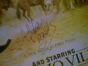 Banderas, Antonio  And Starring Pancho Villa As Himself 2003 Color Mini Movie Poster Signed Autograph