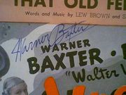Baxter, Warner  & Joan Bennett Vogues Of 1938 Sheet Music Signed Autograph 1937 That Old Feeling