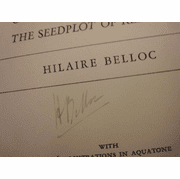 """Belloc, Hilaire """"The Battleground Syria And Palestine"""" 1936 Book Signed Autograph Photos Maps"""