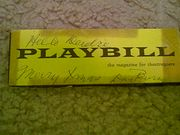 Burns, Dave  Funny Girl Playbill 1960 Autograph Signed