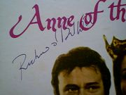 Burton, Richard  Genevieve Bujold Anne Of The Thousand Days LP 1970 Signed Autograph Photos