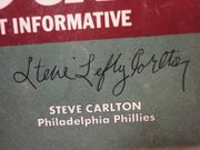 Carlton, Steve  Baseball Street And Smiths Official Yearbook Magazine 1973 Signed Autograph Cover Photo