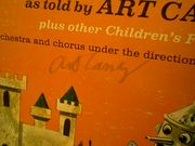 Wizard Wizard Wizard Of Oz Wizard Of Oz Art Carney LP Signed Autograph The Wizard Of Oz Mitch Miller 1974