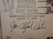 Catfish Hunter Signed Autographed First Day Cover 1990