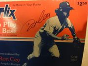 Cey, Ron How To Play Third Base 1977 Rifflix Flip Book Signed Autograph Photos Baseball