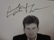 Sheen, Charlie Early Photo Signed Autograph