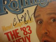 Chase, Chevy Rolling Stone Magazine 1983 Signed Autograph Color Cover Photo