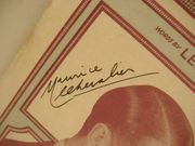 Chevalier, Maurice Sheet Music Signed Autograph Innocents Of Paris 1929