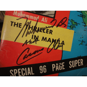 """Clay, Cassius Muhammad Ali and Joe Frazier """"The Ring"""" Magazine 1975 Signed Autograph Boxing"""