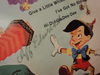 """Cliff Edwards """"Walt Disney's Pinocchio"""" 1971 LP Signed Autograph """"When You Wish Upon A Star"""""""