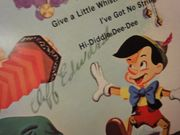 Cliff Edwards Walt Disneys Pinocchio 1971 LP Signed Autograph When You Wish Upon A Star
