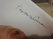 Conran, Terence  Color Photo Signed Autograph