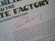 Dahl, Roald  Charlie And The Chocolate Factory 1975 LP Signed Autograph Read By Author