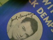 Dempsey, Jack  Exercising With Jack Dempsey 1937 Boxing Booklet Signed Autograph Photo