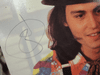 """Depp, Johnny and Mary Stuart Masterson """"Benny and Joon"""" Laserdisc Laser Disc LP 1993 Color Signed Autograph Photos"""