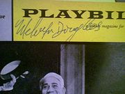 Douglas, Melvyn  The Gangs All Here 1959 Playbill Signed Autograph