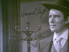 """Duff, Howard  1954 Photo Signed Autograph """"The Yellow Mountain"""" Movie Scene"""
