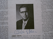 Eban, Abba Reads From Psalms Ecclesiastes 1960S LP Signed Autograph Photo