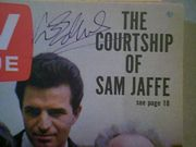Edwards, Vince  and Sam Jaffe TV Guide Magazine 1963 Signed Autograph Color Cover Photo