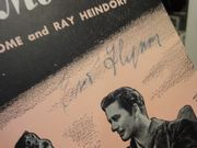 Flynn, Errol and Alexis Smith Some Sunday Morning 1945 Sheet Music Signed Autograph San Antonio Cover Photo