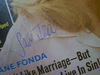 Fonda, Jane  Screen Stories Magazine 1968 Signed Autograph Color Cover Photo