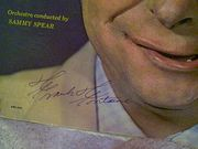 Fontaine, Frank LP Signed Autograph Songs I Sing Jackie Gleason Show Crazy Guggenheim